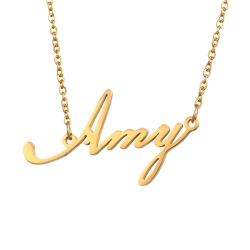 e2068f622 Name Necklace Personalized,Name Necklace Cursive Font Made with Name Pendant  16