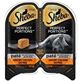 6 Twin containers of Sheba Perfect Portions Pate in Natural Juices Savory Chicken Grain Free Wet