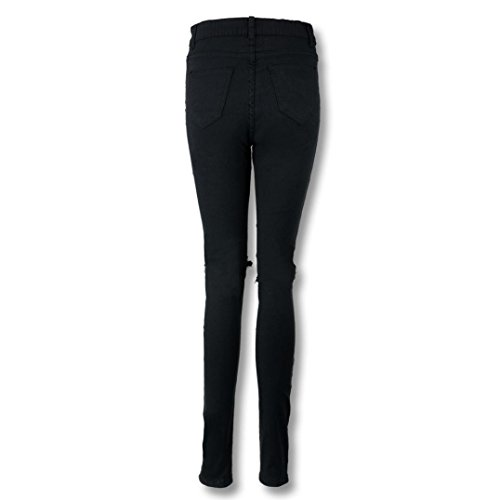 Skinny Alta Lápiz Pantalones Elástico Lhwy rotos Casual Cintura Tejanos Vaqueros Jeans De w4OqxUT4