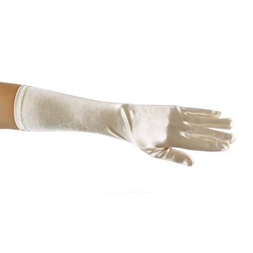c5f245a241 Showstopper Shiny Satin Elbow Length Gloves for Girls