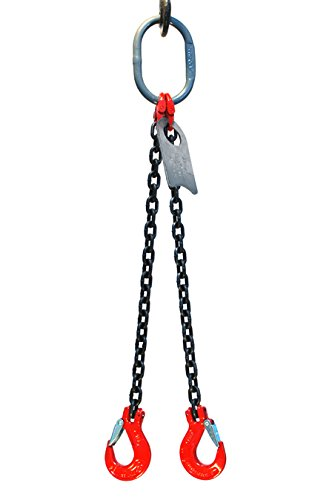 Chain Sling - 9/32'' x 6' Double Leg with Sling Hooks - Grade 80