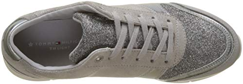 Donna 001 Grigio Tommy Sparkle Grey Scarpe Diamond Ginnastica Light da Hilfiger Sneaker Basse 78zqna7