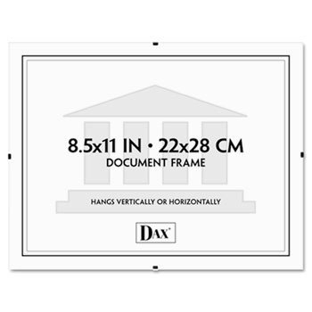 Dax- Document Clip Frame ,Clip ,8.5X11 ,Clear (Pack Of ()