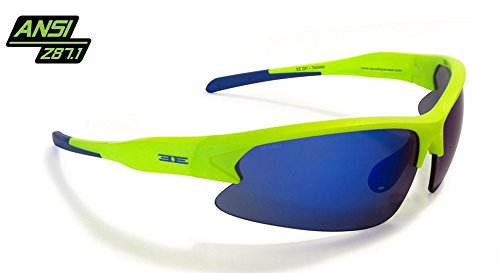Epoch Eyewear Epoch Primo TR-90 NZZ Frame Matte Sunglasses (Lime/Blue - Mirror Green Lime
