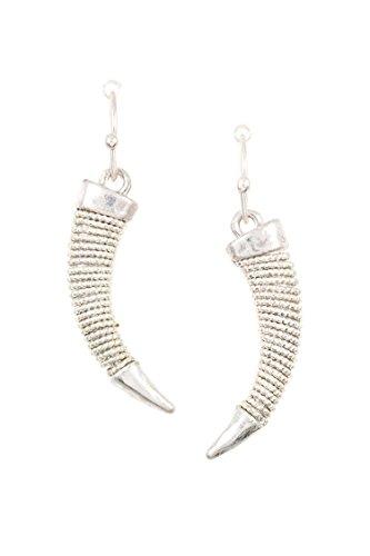 Horn Clip Earrings - 5