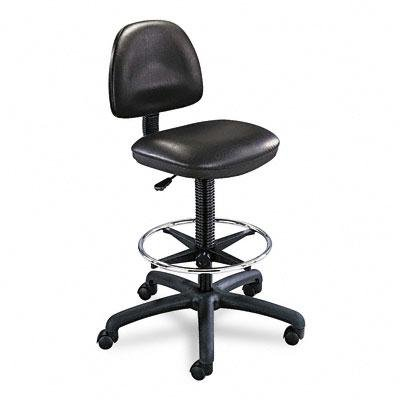 Safco 3406BL Precision Extended Height Swivel Stool w/Adjustable Footring Black Vinyl