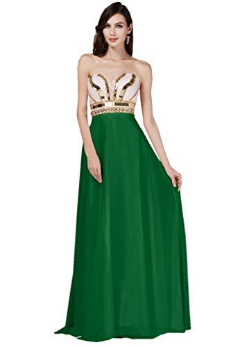 TOSKANA BRAUT, hermoso vestido de gasa con escote corazón para damas de honor, vestido de noche largo de fiesta Gruen2