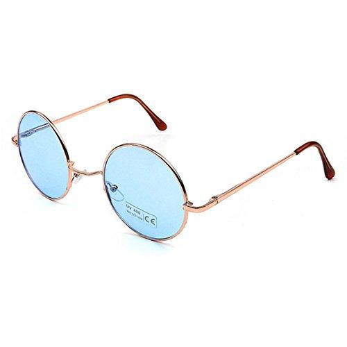 406b2d2670f050 Aoligei Bright Ocean couleur miroir de Prince de grosses lunettes rondes lunettes  de soleil lunettes de