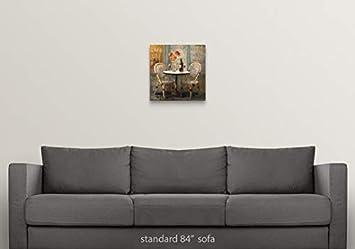 Meet Me at Le Cafe I Canvas Wall Art Print, 16 x16 x1.25