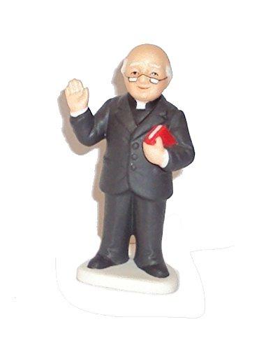 1990 Geo Z Lefton 07777 Colonial Village Reverend O'Toole Pastor Clergy Figurine
