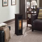 New ChimneyFree Infrared Quartz Heater, Dark Espresso