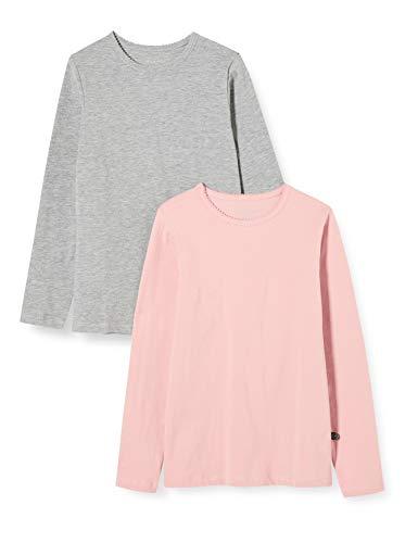 MINYMO Minymo 2er Pack Blusen mit langen Ärmeln für Mädchen meisjes Bloes