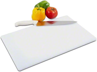 Tiger Chef Cutting Board - White - High-Density Polyethylene A great, Versatile Cutting Board for Easy Cutting, Slicing, and Chopping. NSF CERTIFIED - INCLUDES FREE KNIFE (1, 15X20X1/2 in)