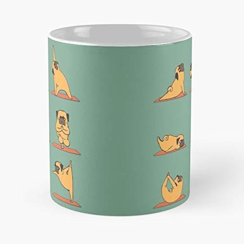 Pug Yoga Om Namaste - Best Gift Mugs Workout Mug Coffee ...
