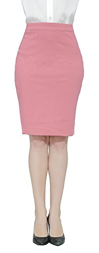 Marycrafts Women's Work Office Business Pencil Skirt XXL Coral Pink
