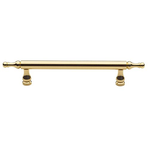 (Baldwin 4476030 Spindle Cabinet Pull, Bright Brass)