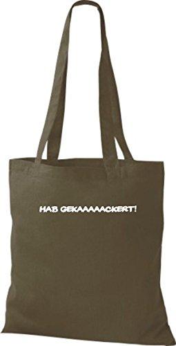 Shirtstown - Bolso de tela de algodón para mujer Verde - verde oliva