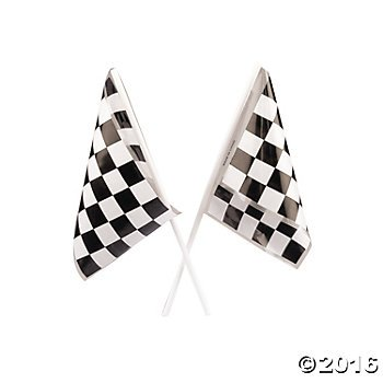 3 Dozen (36) RACING FLAGS - 6