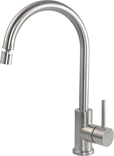 Schnee & Berg PRATI Flex 796003 Single-Lever Sink Mixer Tap Solid Stainless Steel Fixed Spout High-Pressure Tap