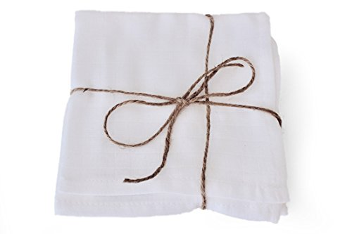 - Love Hyggie - 100% organic cotton muslin cloth washcloths perfect for removing facial makeup (4 pack)