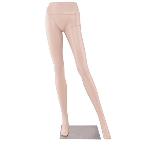 Female Half Body Legs Mannequin Plastic Pants Form Display w/ Metal Base