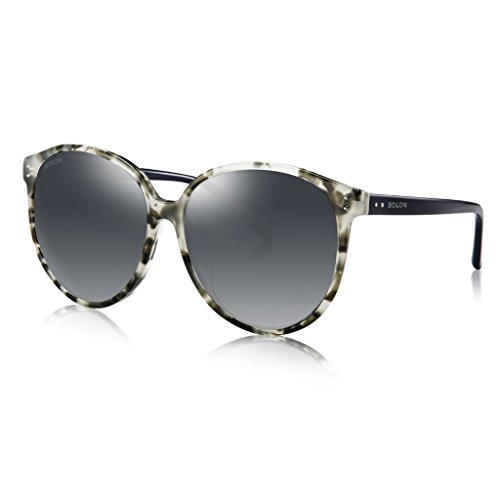 BOLON BL3000 Women's CR39 Gray Gradient HD Polarized Lens Butterfly Acetate - Sunglasses Bolon