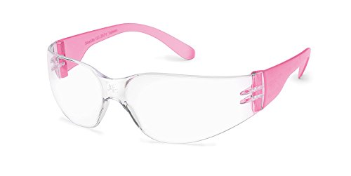 Gateway Safety's Smaller-Sized GirlzGear StarLite SM Safety Glasses, Pink Temples, Clear Lens, (Box of - For Safety Faces Glasses Small