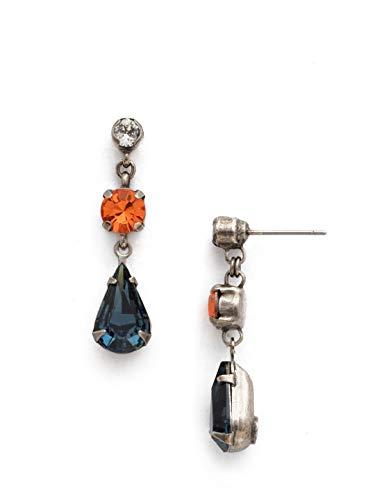 Sorrelli Women's Tiger Lily Trio Drop Earrings, Blue, 1.5 ()