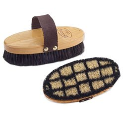 Equi-Essentials Wood Back Body Brush with Horse Hair by Equiessentials