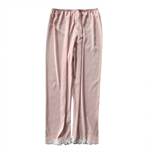 Clearance!Womens Sleeppants, Casual Soft Pajamas Bottom Sleep Pants Lounge Flowy Long Pants Sleepwear Plus Size S-3XL (Pink, XX-Large)