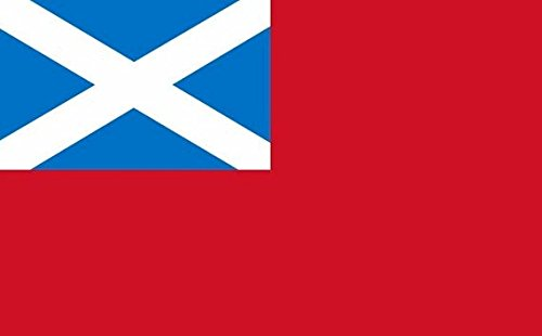 Scottish Red Ensign Flag 5ft x 3ft Large - 100% Polyester - Metal Eyelets - Double Stitched