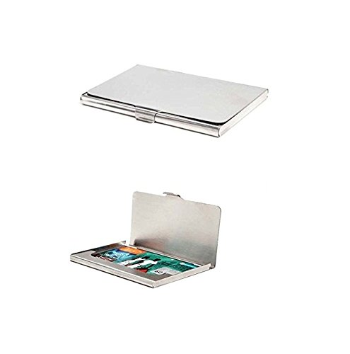 Michelangelo Silver Credit Card Case  Pack Of 2