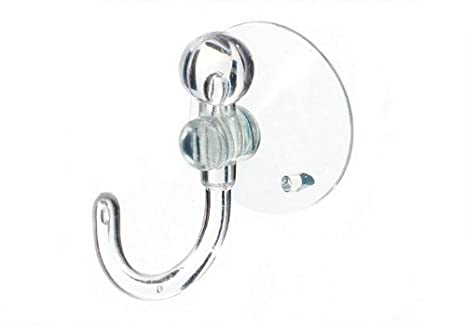 SUCTION SUCKER WINDOW HOOKS CLEAR PLASTIC HOOK 25MM ( pack of 10 ) onestopdiy.com