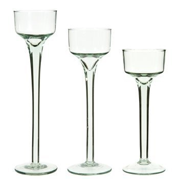 Long-Stem Glass Tealight Candleholders