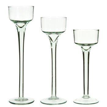 (Tealight Candleholders Long-Stem Glass)