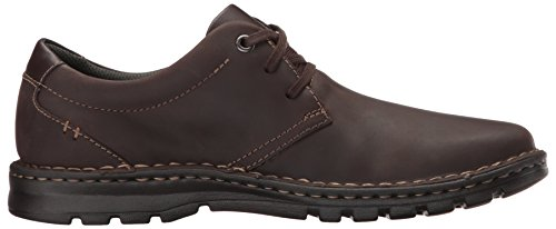 Clarks Mens Vanek Mocassino Pianura Pelle Marrone Scuro
