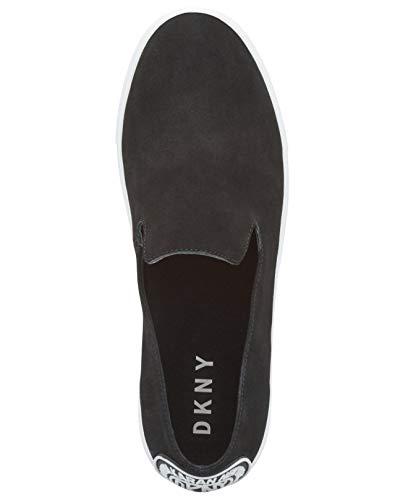 Slip Nubuck Black DKNY Top Fashion Womens Jilian Low Sneakers On zI8nTqIr