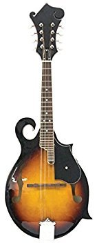 Kona Guitars, 8-String Kona Signature Traditional Florentine Mandolin with f-Style Soundholes and Linden top, Right Handed (KMF10)