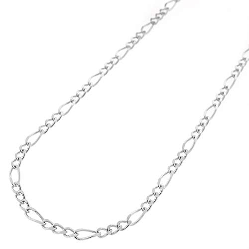 Sterling Silver Italian Figaro Link .925 ITProLux Solid Necklace Chains, 2MM - 10.5MM, 16