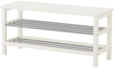 Ikea Tjusig Banc Range Chaussures Blanc 108x50 Cm Amazon Fr Cuisine Maison