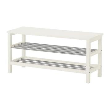 Ikea Tjusig Bank Mit Schuhablage In Weiß 108x50cm Amazonde