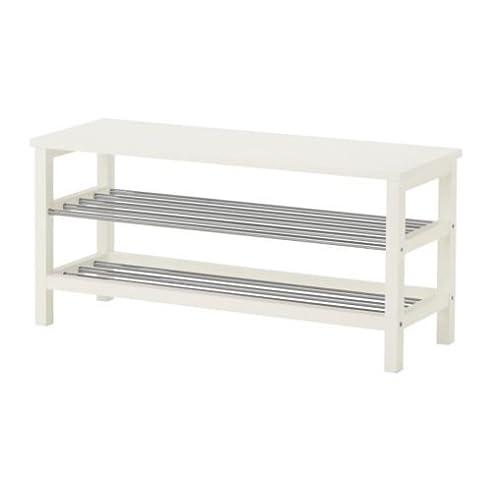 IKEA TJUSIG U2013 Bank Mit Schuhregal, Weiß U2013 108 X ...