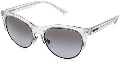 - DKNY Women's Injected Woman Sunglass Round, Shiny Crystal, 56.0 mm