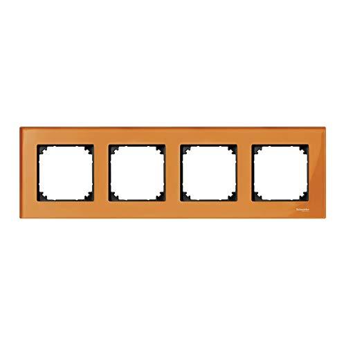Schneider Elec ppm–PME 5150–Frame 4Elements Elegance Orange Glass