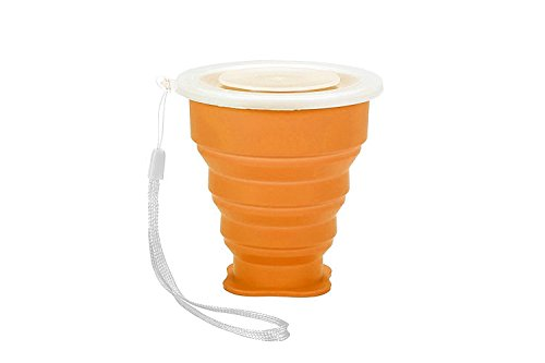 Farktop Outdoor Portable FoldinFarktop Outdoor Silicone Portable Folding Collapsible Travel Cups With Lid BPA Free FDA Approved Travel Mug for Camping Hiking Trip, -Eco Friendly, Easy to Clean & Store(1 Pack) g Cups Multi-functional Creative Cup