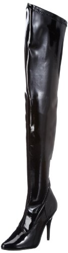 Pleaser Women's Seduce-3000,Black Patent,10 M - Sexy Superhero Boot