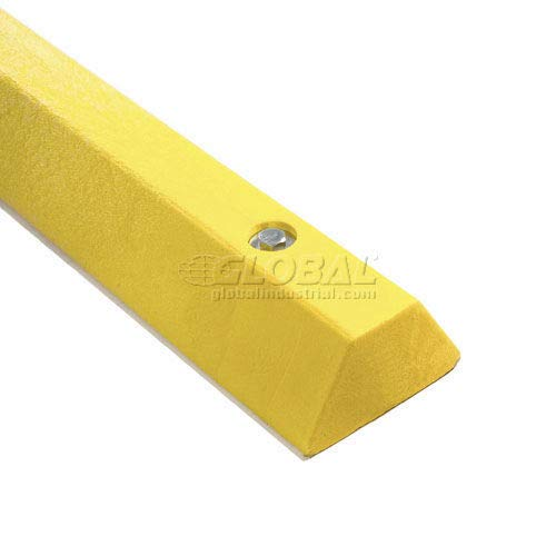 Yellow Parking Curb with Hardware 72''L x 4''H x 6''W (641100YL)