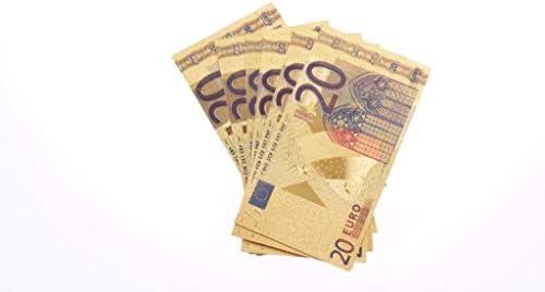 CHENTAOCS 999のゴールド流通していないとして、コレクションの贈り物10個入り/ロットカラフルなヨーロッパ紙幣20ユー