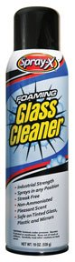 Spray-X Foaming Professional Glass Cleaner - 19oz. Can - CASE OF 12 CANS