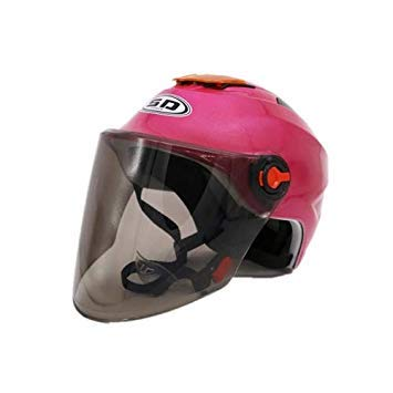 Uniqus Motorcycle Full Face Riding Helmet Clear Lens Shield Helmet(Magenta)